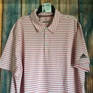 NEW Adidas Ultimate 365 Two Stripe Golf Polo